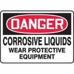 "Accuform MCHL124XT10, OSHA Danger Safety Sign ""Corrosive Liquids…"""