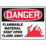 "Accuform MCHL126XT10, OSHA Danger Safety Sign ""Flammable…"""