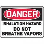 """Accuform MCHL131XT10, OSHA Danger Safety Sign """"Inhalation Hazard…"""""""