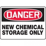 "Accuform MCHL133VP10, OSHA Safety Sign ""New Chemical Storage Only"""