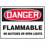 "Accuform MCHL145XT10, OSHA Danger Safety Sign ""Flammable…"""