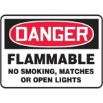 """Accuform MCHL147XT10, OSHA Safety Sign """"Flammable – No Smoking…"""""""