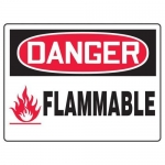 "Accuform MCHL148XF10, OSHA Danger Safety Sign ""Flammable"""