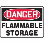 "Accuform MCHL150VP10, OSHA Danger Safety Sign ""Flammable Storage"""