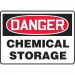 "Accuform MCHL155VP10, OSHA Danger Safety Sign ""Chemical Storage"""