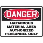"Accuform MCHL163XF10, OSHA Danger Safety Sign ""Hazardous Material…"""