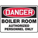 """Accuform MCHL165XF10, OSHA Danger Safety Sign """"Boiler Room…"""""""