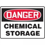 "Accuform MCHL192VP10, OSHA Danger Safety Sign ""Chemical Storage"""