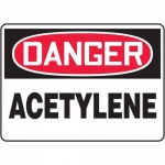 "Accuform MCHL207XL10, OSHA Danger Safety Sign ""Acetylene"" Aluma-Lite"