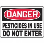"""Accuform MCHL230XF10, OSHA Danger Safety Sign """"Pesticides In Use…"""""""