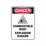 """Accuform MCHL238XF10, OSHA Danger Safety Sign """"Combustible Dust…"""""""