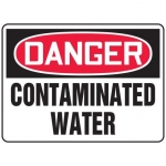 """Accuform MCHL240XF10, OSHA Danger Safety Sign """"Contaminated Water"""""""