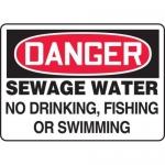 "Accuform MCHL242XF10, OSHA Danger Safety Sign ""Sewage Water…"""