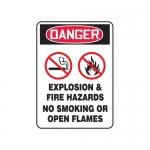 "Accuform MCHL243XT10, OSHA Safety Sign ""Explosion & Fire Hazards…"""