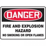 """Accuform MCHL249XT10, OSHA Danger Safety Sign """"Fire and Explosion…"""""""