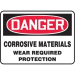 """Accuform MCHL250XF10, OSHA Danger Safety Sign """"Corrosive Materials…"""""""