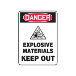 """Accuform MCHL261XF10, OSHA Danger Safety Sign """"Explosive Materials…"""""""