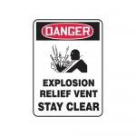 """Accuform MCHL263XF10, OSHA Danger Safety Sign """"Explosion Relief…"""""""