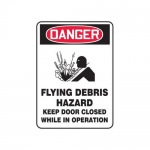 "Accuform MCHL264XF10, OSHA Safety Sign ""Flying Debris Hazard…"""