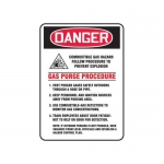 """Accuform MCHL277XT10, Safety Sign """"Combustible Gas Hazard Follow…"""""""