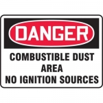 """Accuform MCHL282XF10, OSHA Danger Safety Sign """"Combustible Dust…"""""""