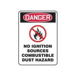 """Accuform MCHL284XF10, OSHA Danger Safety Sign """"No Ignition Sources…"""""""