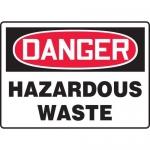 "Accuform MCHL295XP10, OSHA Danger Safety Sign ""Hazardous Waste"""