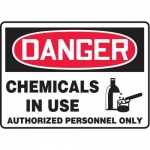 """Accuform MCHL299XF10, OSHA Danger Safety Sign """"Chemicals…"""""""