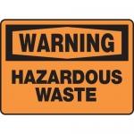 """Accuform MCHL317XP10, OSHA Warning Safety Sign """"Hazardous Waste"""""""