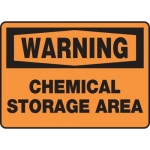"Accuform MCHL318VP10, OSHA Warning Safety Sign ""Chemical Storage Area"""