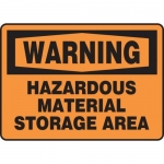 "Accuform MCHL320XF10, OSHA Warning Safety Sign ""Hazardous Material…"""