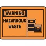 """Accuform MCHL324XP10, OSHA Warning Safety Sign """"Hazardous Waste"""""""