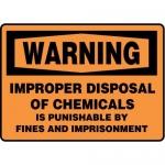 "Accuform MCHL333XF10, OSHA Warning Safety Sign ""Improper Disposal…"""