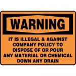"Accuform MCHL334XF10, OSHA Safety Sign ""It Is Illegal & Against…"""