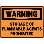 "Accuform MCHL335XF10, OSHA Warning Safety Sign ""Storage…"""