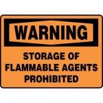 "Accuform MCHL335XT10, OSHA Warning Safety Sign ""Storage…"""