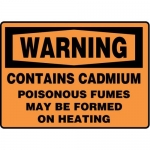 """Accuform MCHL336XF10, OSHA Warning Safety Sign """"Contains Cadmium…"""""""