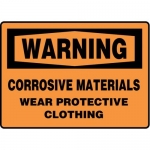 "Accuform MCHL337XF10, OSHA Safety Sign ""Corrosive Materials…"""