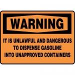 "Accuform MCHL338XF10, OSHA Warning Safety Sign ""It Is Unlawful…"""