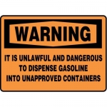 "Accuform MCHL338XT10, OSHA Warning Safety Sign ""It Is Unlawful…"""