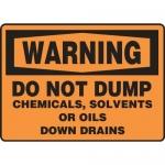 "Accuform MCHL339XT10, OSHA Warning Safety Sign ""Do Not Dump…"""