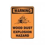 "Accuform MCHL364XF10, OSHA Warning Safety Sign ""Wood Dust…"""