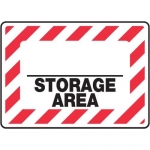 "Accuform MCHL506VP10, Custom Safety Sign ""_ Storage Area"" Plastic"