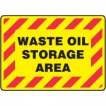 "Accuform MCHL508VP10, Safety Sign ""Waste Oil Storage Area"" Plastic"