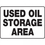 "Accuform MCHL510VP10, Safety Sign ""Used Oil Storage Area"" Plastic"