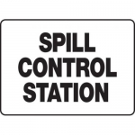 """Accuform MCHL521XV10, Safety Sign """"Spill Control Station"""" Dura-Vinyl"""