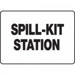 """Accuform MCHL522XV10, OSHA Safety Sign """"Spill-Kit Station"""" Dura-Vinyl"""