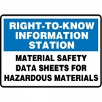 "Accuform MCHL525XT10, Information Safety Sign ""Material Data…"""
