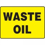 """Accuform MCHL527XP10, 10″ x 14″ Safety Sign """"Waste Oil"""" Accu-Shield"""