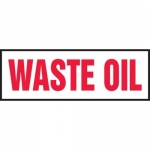 """Accuform MCHL532XT10, 4″ x 12″ Safety Sign """"Waste Oil"""" Dura-Plastic"""